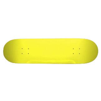 Lanzarote Lemon Acid Neon Yellow Tropical Romance Skateboard Deck