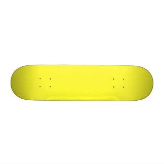 Lanzarote Lemon Acid Neon Yellow Tropical Romance Skate Board