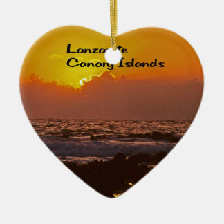 Lanzarote Sunset Christmas Ornament