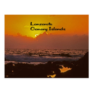 Lanzarote Sunset Postcard