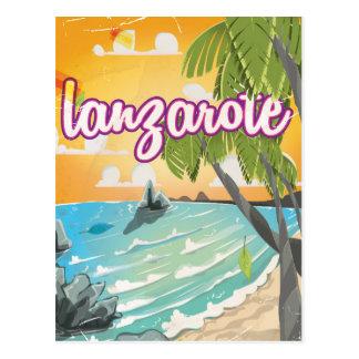lanzarote vintage travel poster cartoon postcards