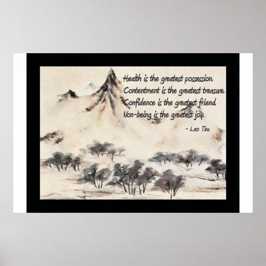 Lao Tzu Health Quote Poster