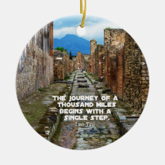 Lao Tzu JOURNEY travel quote Christmas Ornament