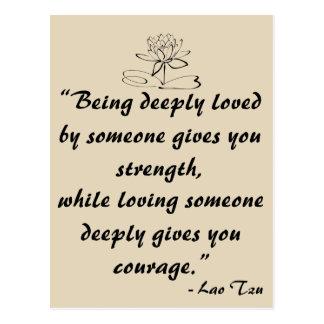 Lao Tzu Love Quote Postcard