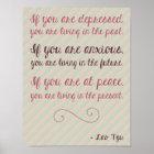 Lao Tzu Motivational Quote Poster 8.5 x 11
