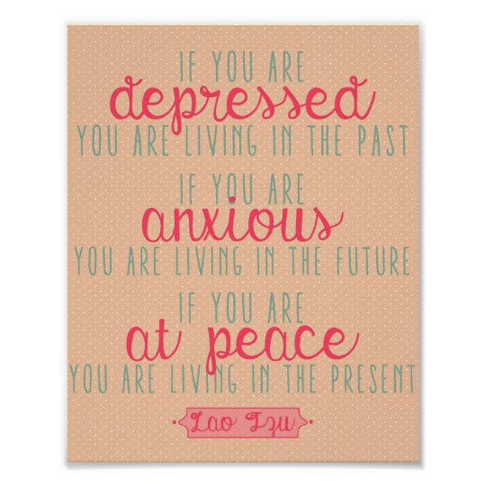 Lao Tzu Motivational Quote Print - 8 x