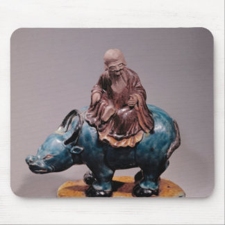 Lao-Tzu  on his Buffalo, Qing dynasty Mouse Mat