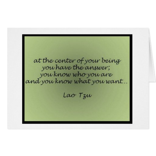 Lao Tzu Quote Greeting Card