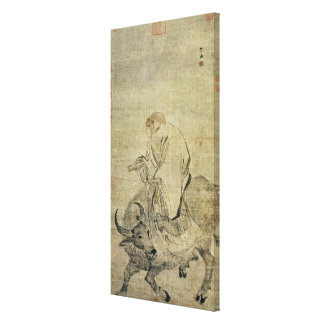 Lao-tzu  riding his ox, Chinese, Ming Dynasty Stretched Canvas Prints