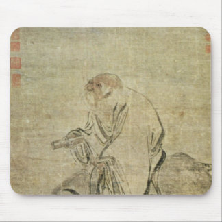 Lao-tzu  riding his ox, Chinese, Ming Dynasty Mouse Mat
