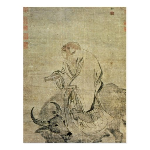 Lao-tzu  riding his ox, Chinese, Ming Dynasty Post Cards