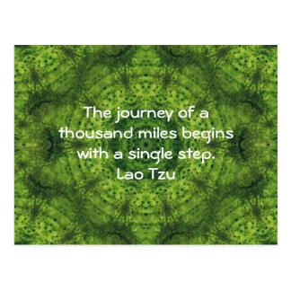 Lao Tzu Wisdom Motivational Quotation Saying Postcard