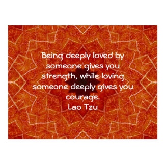 Lao Tzu Wisdom Quotation Saying Postcard