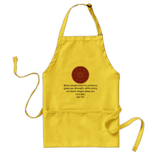 Lao Tzu Wisdom Quotation Saying Standard Apron