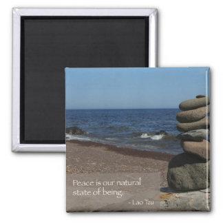 Lao Tzu Words of Wisdom Square Magnet