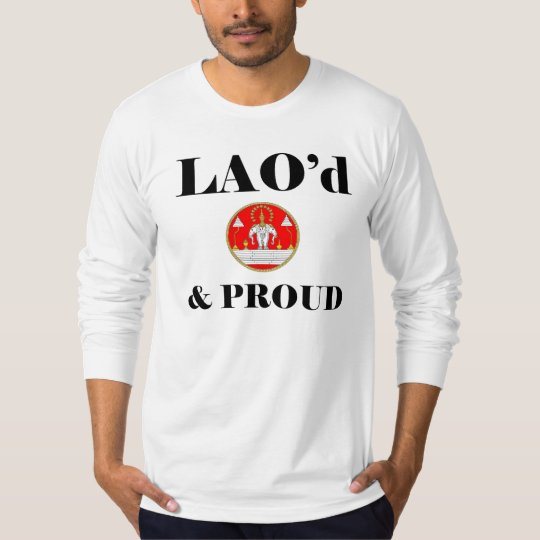 LAO'd & PROUD American Apparel Long Sleeve-Fitted T-Shirt