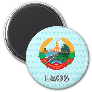 Laos Coat of Arms 6 Cm Round Magnet