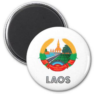 Laos Coat of Arms Fridge Magnet