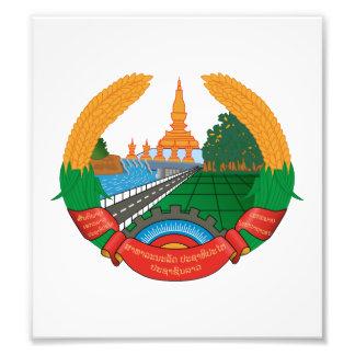Laos Coat Of Arms Art Photo