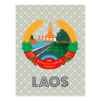 Laos Coat of Arms Postcard