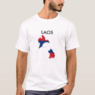 laos country flag map shape silhouette symbol T-Shirt