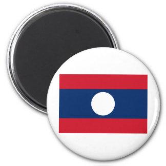 Laos Flag 6 Cm Round Magnet