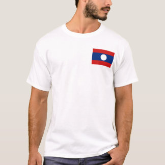 Laos Flag and Map T-Shirt