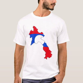 Laos flag map T-Shirt