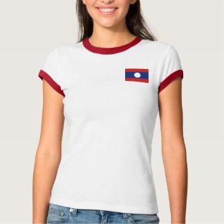 Laos Flag + Map T-Shirt