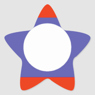 Laos Flag Star Sticker