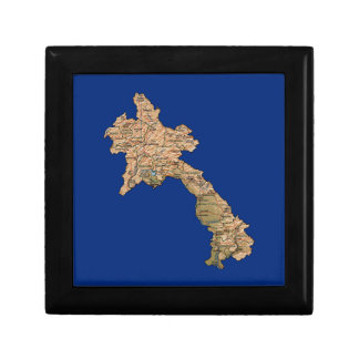 Laos Map Gift Box