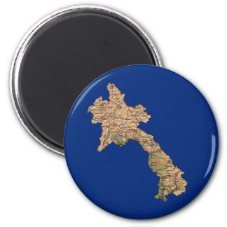Laos Map Magnet
