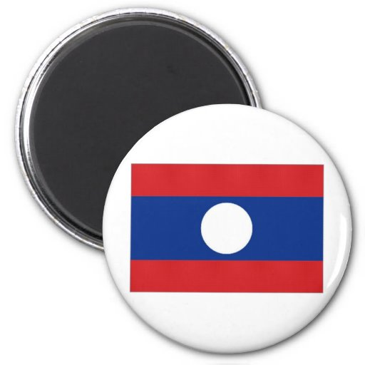Laos National Flag Fridge Magnets