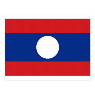 Laos National Flag Postcard