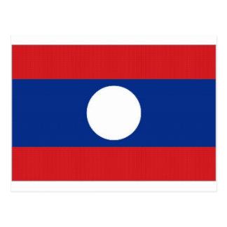 Laos National Flag Postcards