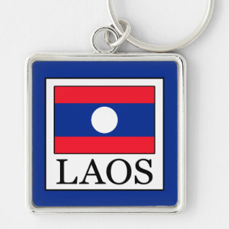 Laos Silver-Colored Square Key Ring