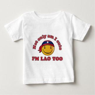 Laos smiley flag designs baby T-Shirt