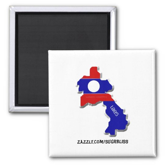 Laos Square Magnet