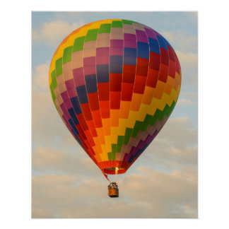 Laos, Vang Vieng. Hot air balloon Poster