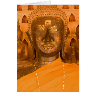 Laos, Vientiane, one of 6840 Buddha images in 2 Card