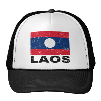 Laos Vintage Flag Hat