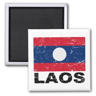 Laos Vintage Flag Refrigerator Magnet