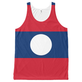 Laotian flag All-Over print tank top