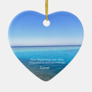 Laozi inspirational quote about NEW BEGINNINGS Christmas Ornament