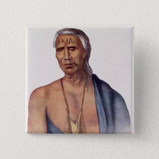 Lap-Pa-Win-Soe, a Delaware Chief 15 Cm Square Badge