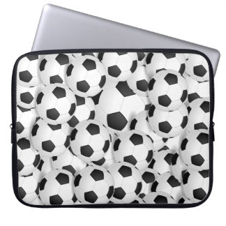 Lap Top Skin - Soccer Balls Laptop Computer Sleeve