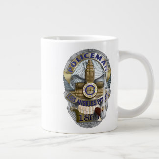 LAPD Skull Badge Large Coffee Mug