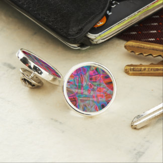 Lapel Pin Colorful Stained Glass