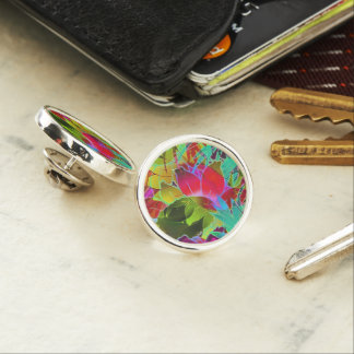 Lapel Pin Floral Abstract Artwork