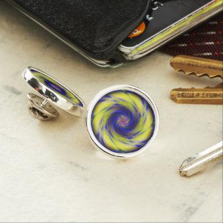 Lapel Pin Fractal Spiral Vortex